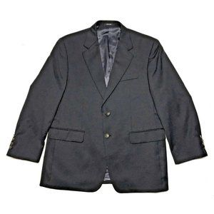 IZOD Mens 100% Wool Navy Blue Classic Sport Coat